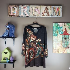 ARYEH ANTHROPOLOGIE PAISLEY SWEATER DRESS🦋